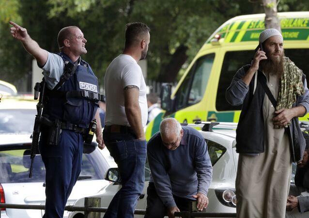 Policie na místě krvavého masakru na Novém Zélandu