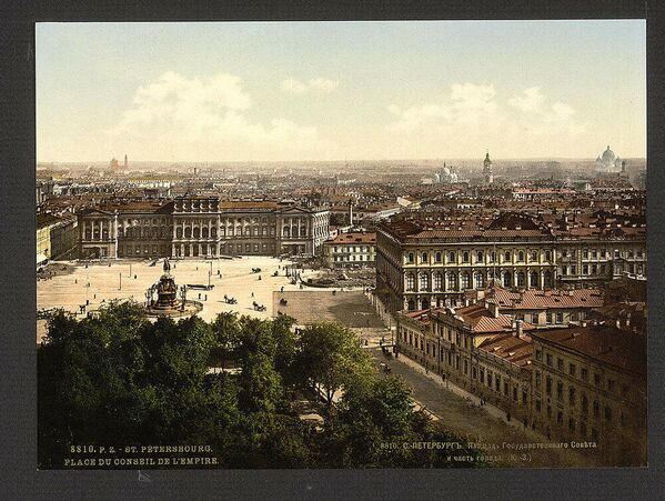 Pohled na Petrohrad. Jedna z prvních barevných fotografií Ruska - Sputnik Česká republika