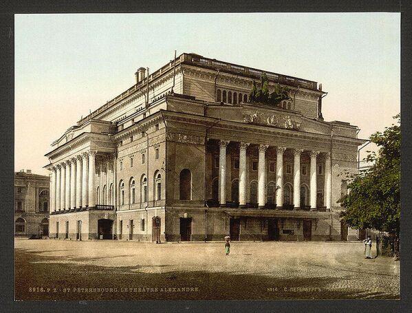 Alexandrinské divadlo v Petrohradě. Jedna z prvních barevných fotografií Ruska - Sputnik Česká republika