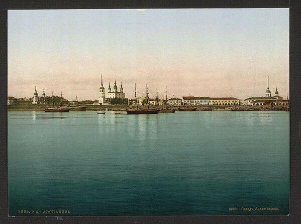Pohled na Archangelsk. Jedna z prvních barevných fotografií Ruska - Sputnik Česká republika