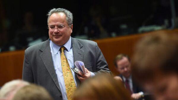 Bývalý řecký ministr zahraničí Nikos Kotzias  - Sputnik Česká republika