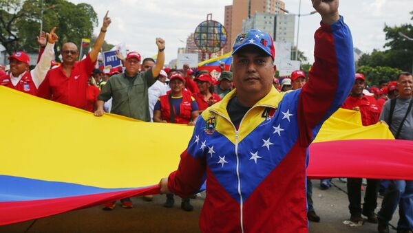 Akce na podporu prezidenta Venezuely Nicolase Madura - Sputnik Česká republika