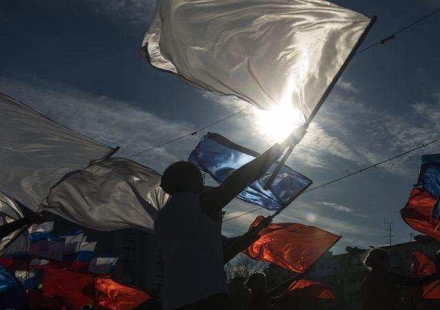 Oslavy připojení Krymu k Rusku (Simferopol)