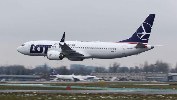 Letadlo Boeing 737 MAX 8 společnosti LOT - Sputnik Česká republika