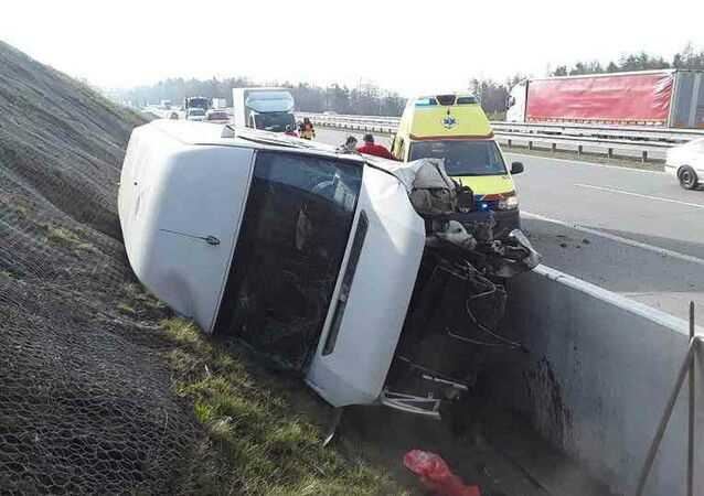 Dopravní nehoda na dálnici D6