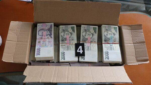 Peníze zajištěné při operaci AURELIUS - Sputnik Česká republika