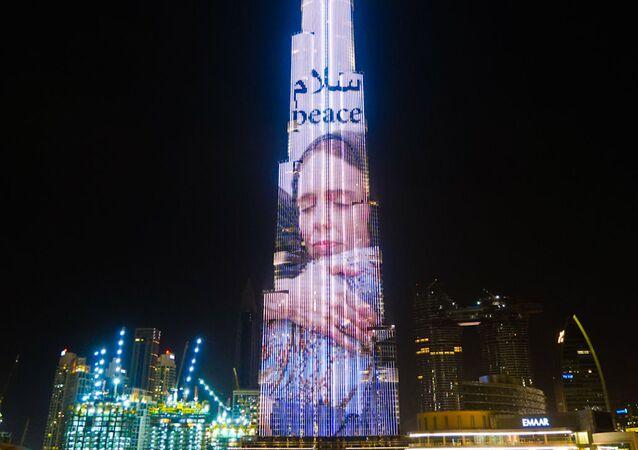 Nejvyšší mrakodrap světa Burdž Chalífa v Dubaji