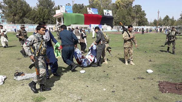 Následky výbuchu v afghánské provincii Hilmand během oslav dne farmáře - Sputnik Česká republika