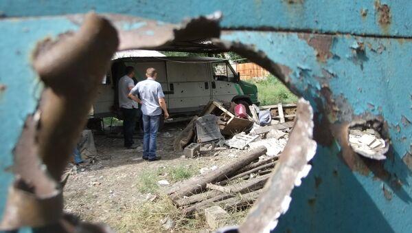 Následky ostřelování Doněcku - Sputnik Česká republika