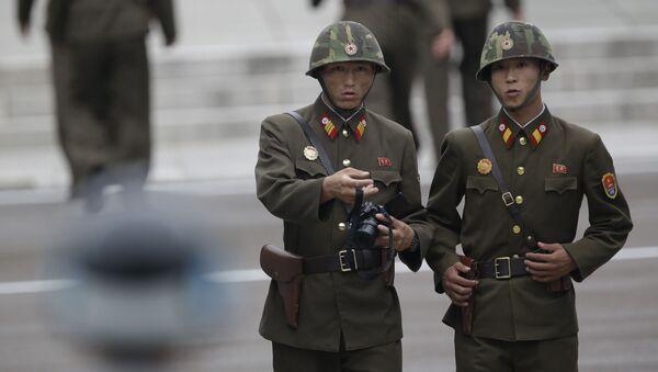 Severokorejští pohraničníci - Sputnik Česká republika