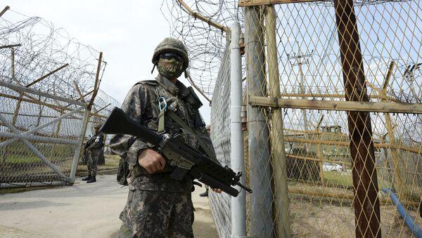 Voják Jižní Koreje, Demilitarizované pásmo - Sputnik Česká republika