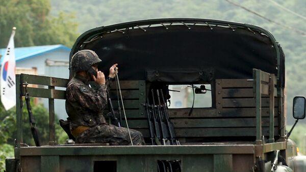 Jihokorejský voják - Sputnik Česká republika