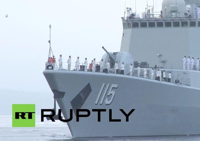 Čínské lodi připluly do Vladivostoku, aby se zúčastnily vojenských cvičení