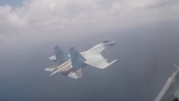 Su-35 se ubránil tepelnými pastmi (VIDEO) - Sputnik Česká republika