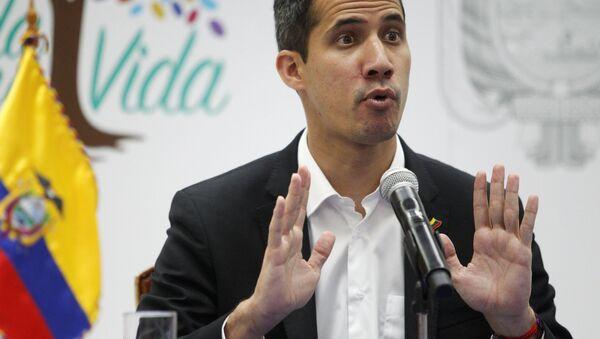 Předák venezuelské opozice Juan Guaidó - Sputnik Česká republika