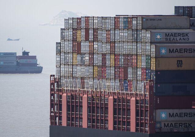Americký tanker v Šanghaji