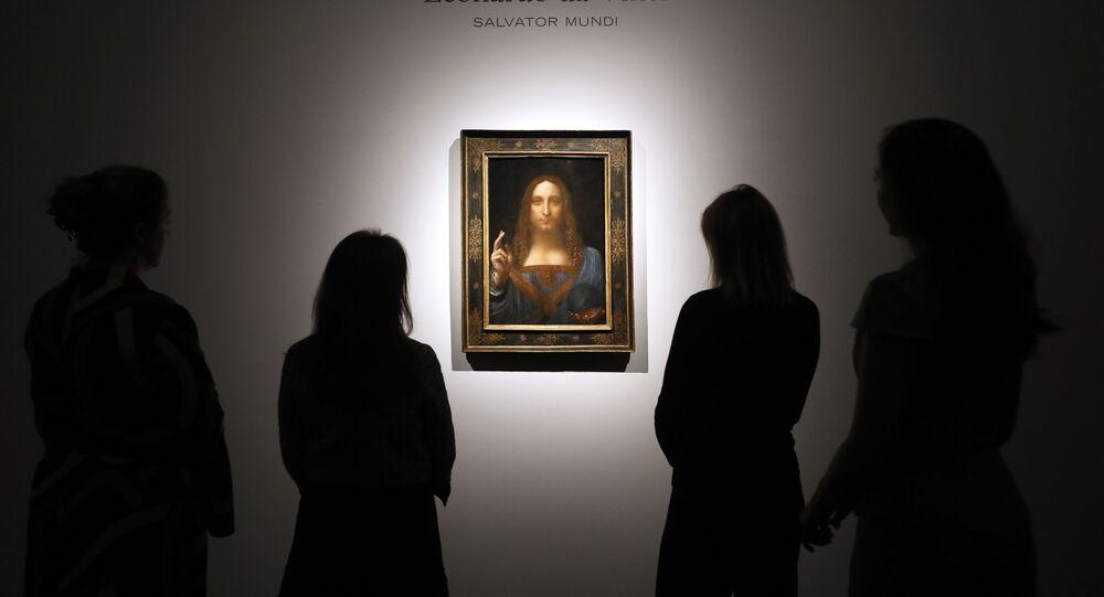 Obraz Leonarda da Vinciho Spasitel světa  (Salvator Mundi)