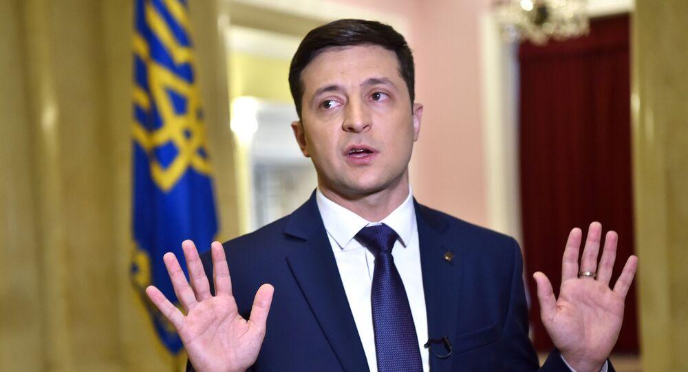Prezidentský kandidát Volodymyr Zelenskyj