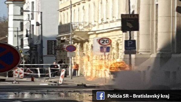 Výbuch plynu v Bratislavě - Sputnik Česká republika
