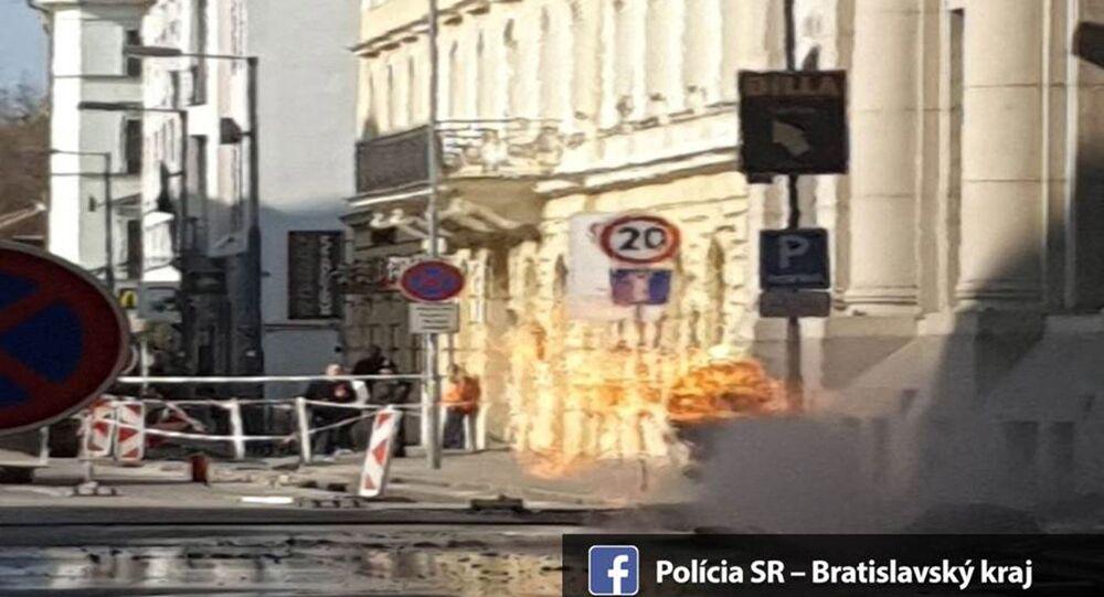 Výbuch plynu v Bratislavě