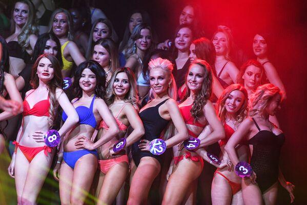 Účastnice během představení ve finále soutěže krásy Miss International Mini 2019 v Moskvě - Sputnik Česká republika