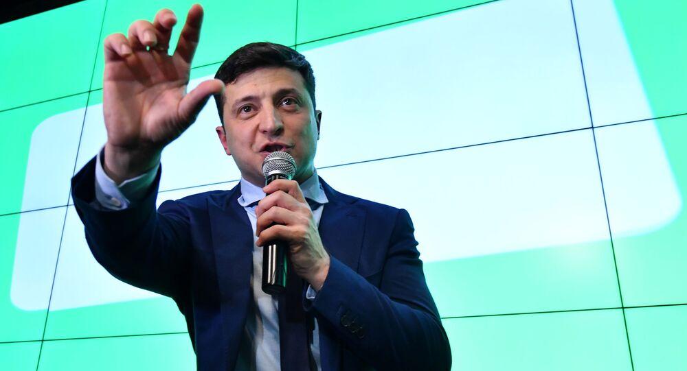 Kandidát na funkci prezidenta Ukrajiny Volodymyr Zelenský