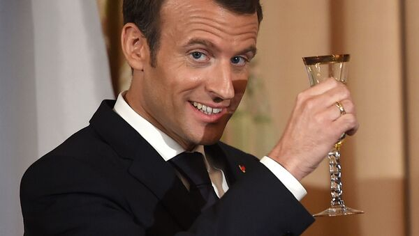 Francouzský lídr Emmanuel Macron - Sputnik Česká republika