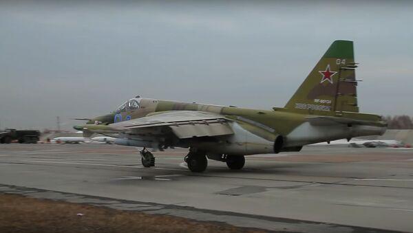Střelba posádek Su-34 a Su-25 na pozemní cíle v kvalifikační fázi soutěže Aviadarts 2019 - Sputnik Česká republika