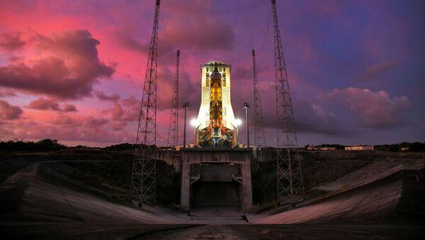 Odpalovací rampa startovního místa v Guyanském kosmickém centru - Sputnik Česká republika