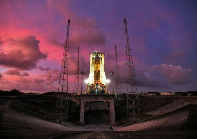 Odpalovací rampa startovního místa v Guyanském kosmickém centru