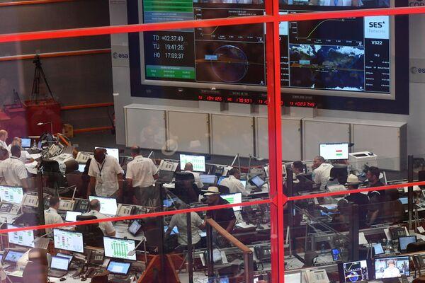 Vesmírné středisko pro řízení letů v Guyanském kosmickém centru - Sputnik Česká republika