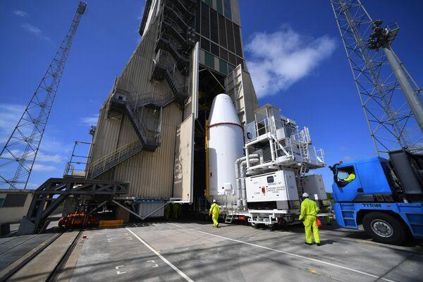 Přeprava evropských satelitních zařízení O3b - Sputnik Česká republika