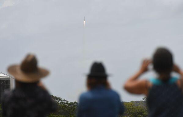 Start rakety Sojuz-ST z Guyanského kosmického centra - Sputnik Česká republika