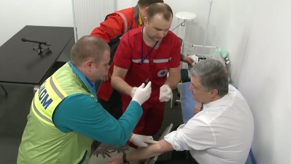 Krev kandidátů na prezidenta Ukrajiny. Vyšetření v přímém přenosu (VIDEO) - Sputnik Česká republika