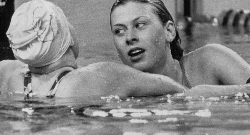 Majitelka stříbrné medaile z Olympiády 1980, britská plavkyně Sharon Daviesová