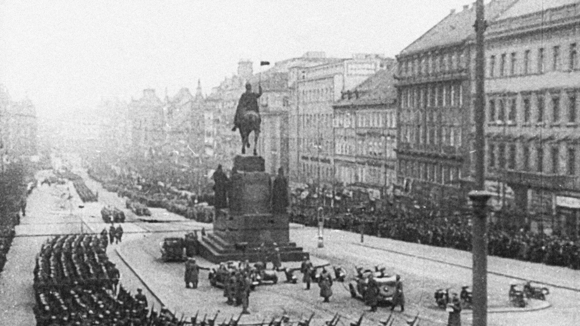 Hitlerova vojska na Václavském náměstí, Praha, 1939 - Sputnik Česká republika, 1920, 28.06.2021