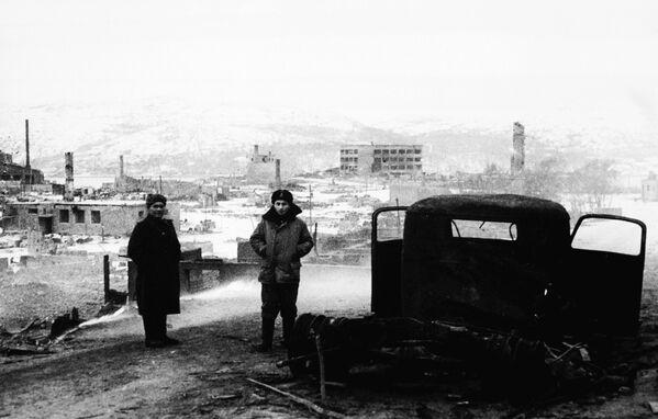 Norské město Kirkenes, které zcela vypálili nacisti, 1944 - Sputnik Česká republika