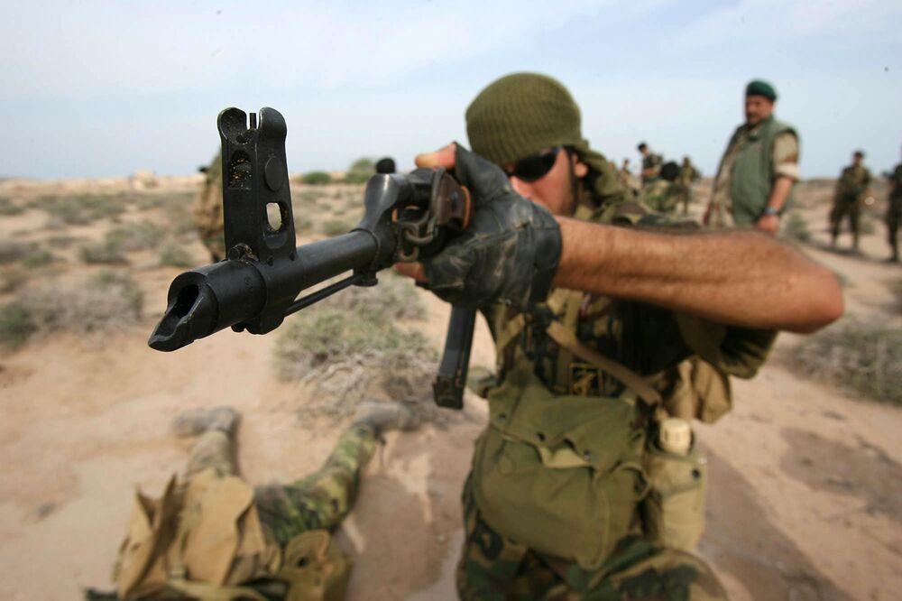 Speciální jednotky IRGC během vojenských cvičení