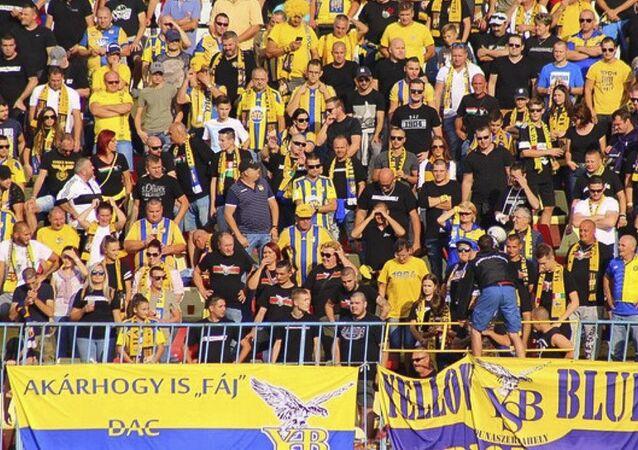 Fanoušci slovenského fotbalového klubu FC DAC 1904 Dunajská Streda