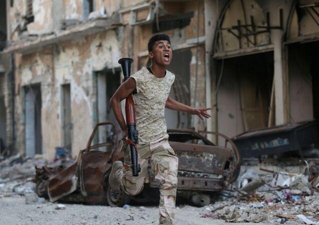 Voják Libyjské národní armády. Archivní foto
