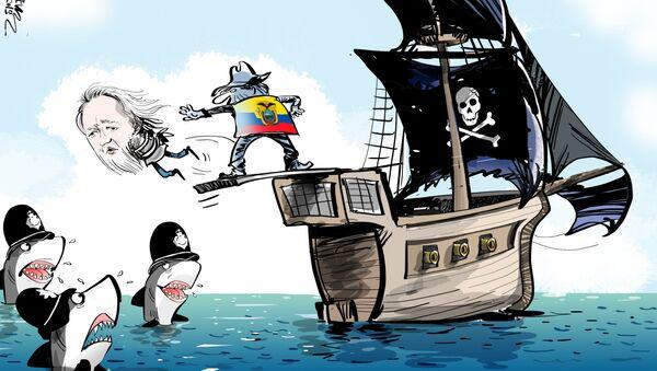 Ekvádor odvolal azyl Assange - Sputnik Česká republika