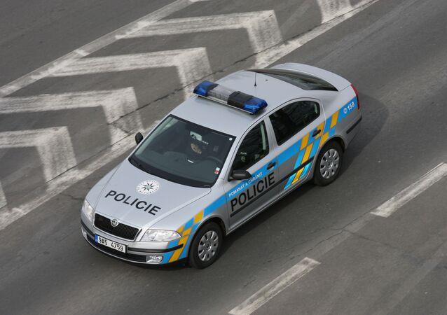 Policejní vůz v Praze