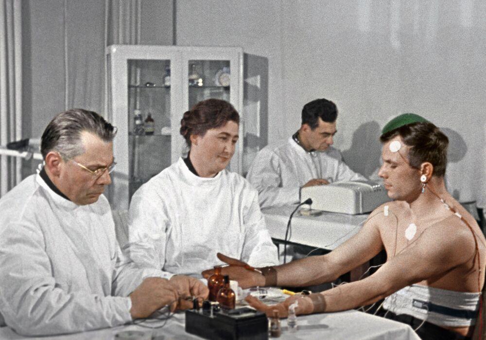 Jurij Gagarin před letem do vesmíru