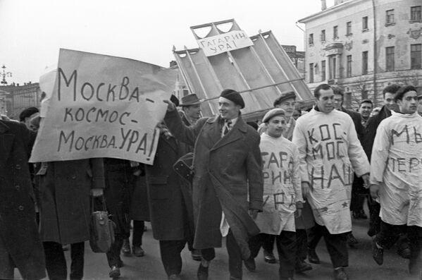 Studenti medicíny slaví let Jurije Gagarina do vesmíru - Sputnik Česká republika