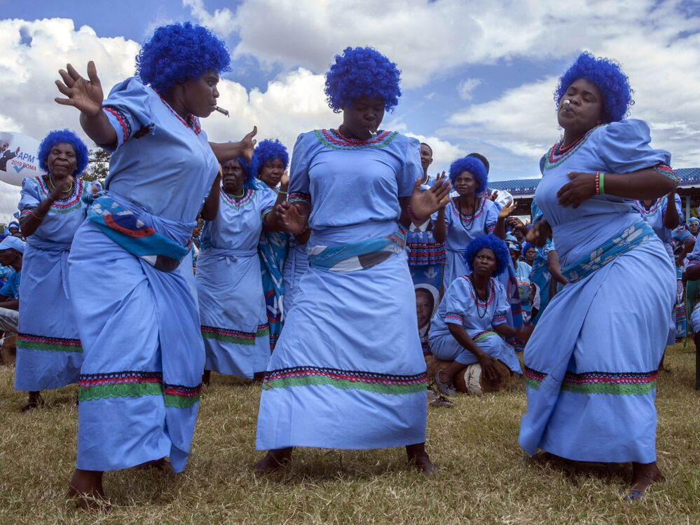 Příznivci Demokratické progresivní strany Malawi během oficiálního zahájení volební kampaně