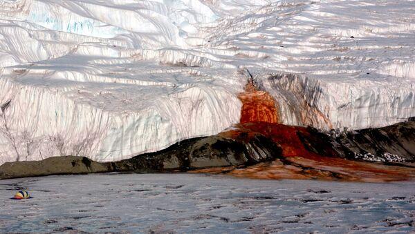 Krvavé vodopády (Blood Falls) na Antarktidě - Sputnik Česká republika