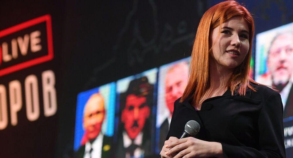 Ruská moderátorka Anna Chapmanová