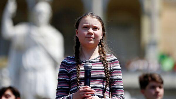Švédská klimatická aktivistka Gréta Thunbergová  - Sputnik Česká republika