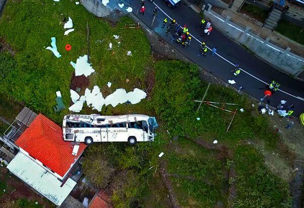 Následky nehody turistického autobusu na ostrově Madeira, Portugalsko - Sputnik Česká republika