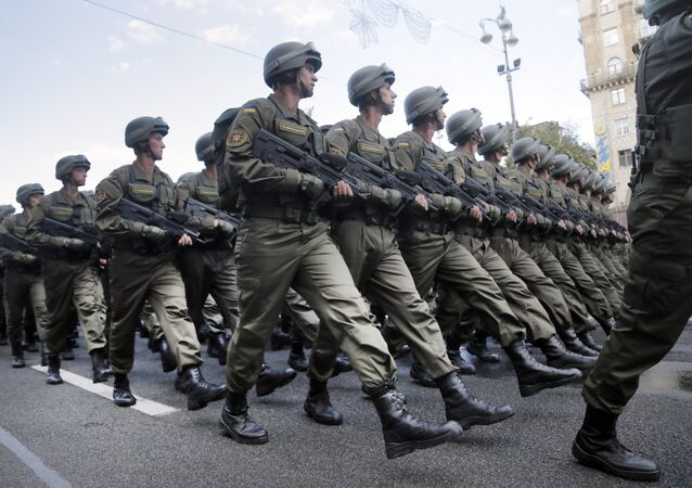 Ukrajinští vojáci v Kyjevě